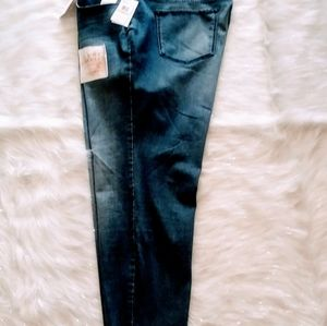 JESSICA SIMPSON ADORED HIGH RISE ANLKE JEAN.SIZE 2